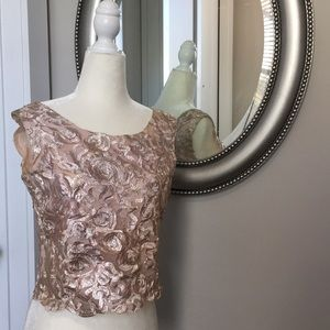 Vintage rose gold crop top